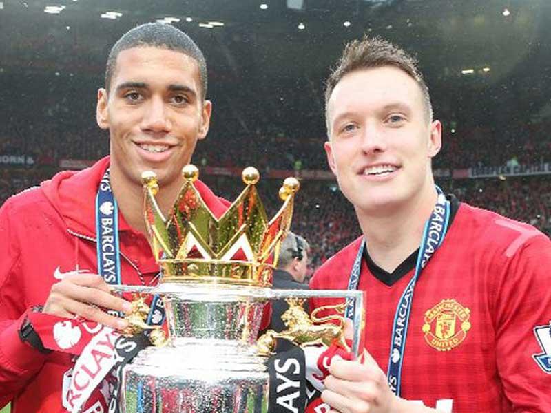 Phil Jones & Chris Smalling Premier League Winners For Manchester United