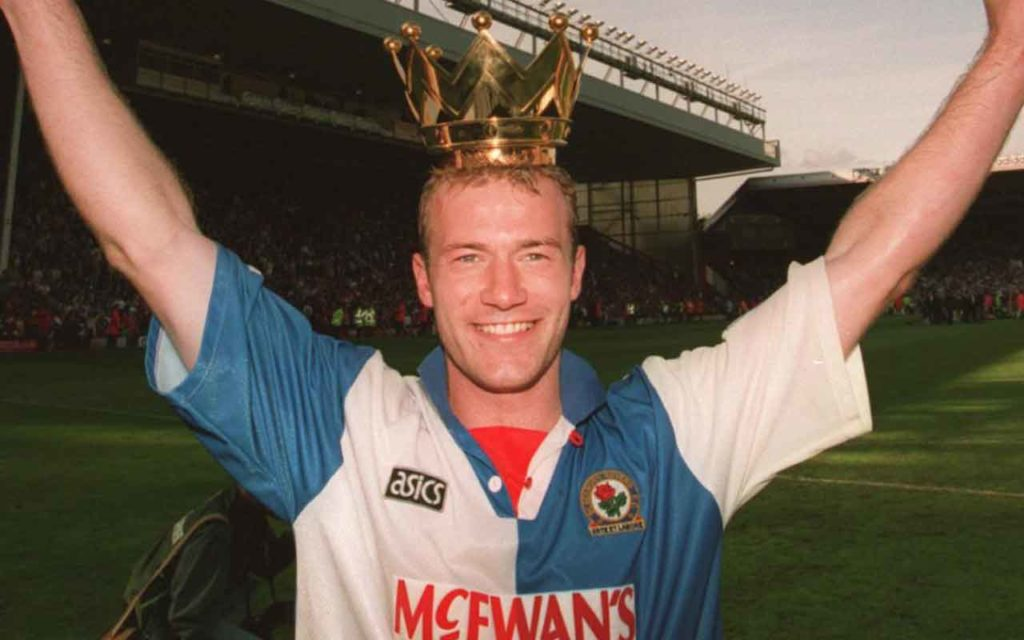 Alan Shearer With Premier League Crown