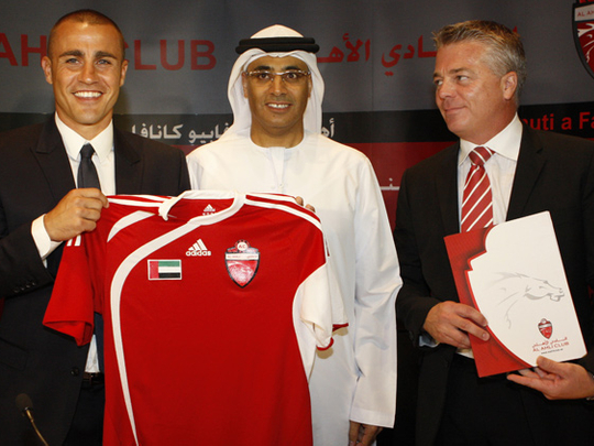 Cannavaro UAE