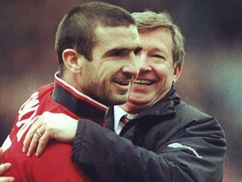 Eric Cantona & Sir Alex Ferguson