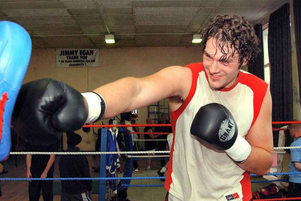 Young Tyson Fury In The Gym